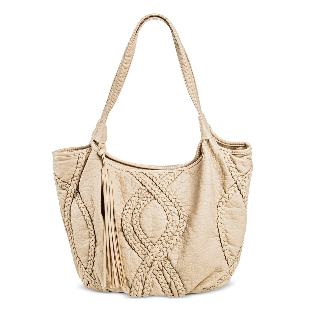 Under One Sky Womens Tote Handbag - Bone (Ivory)