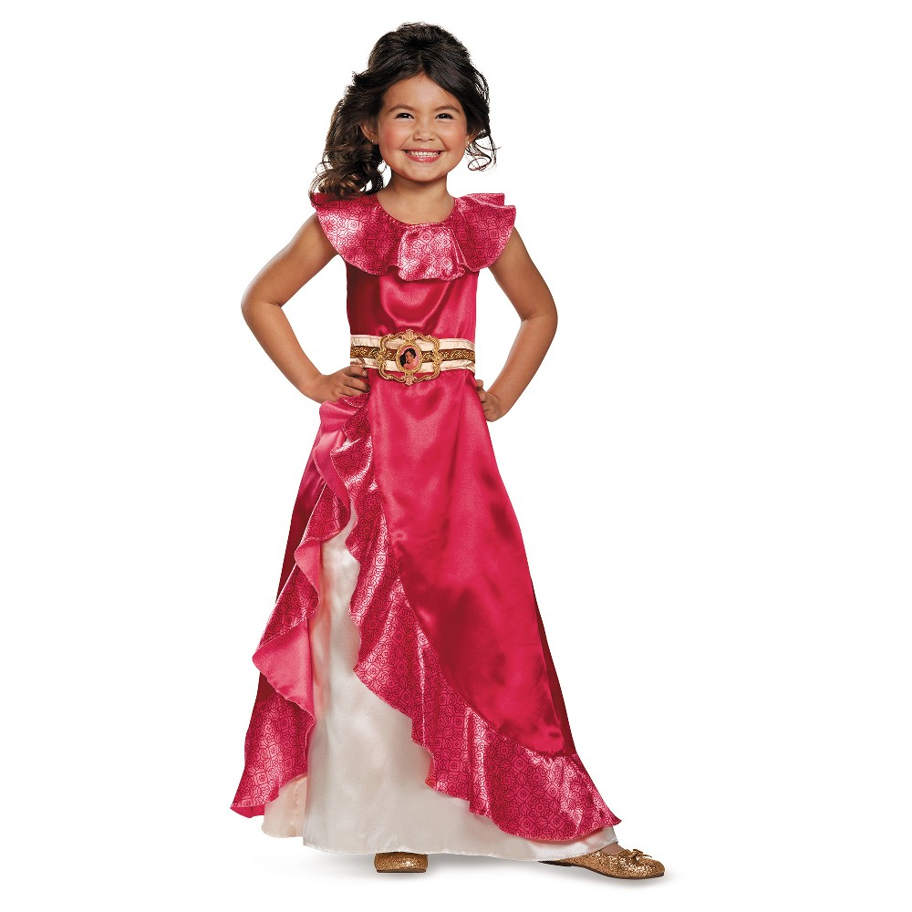 Girls Disney Princess Elena of Avalor Adventure Dress Classic Costume - S (4-6), Multicolored