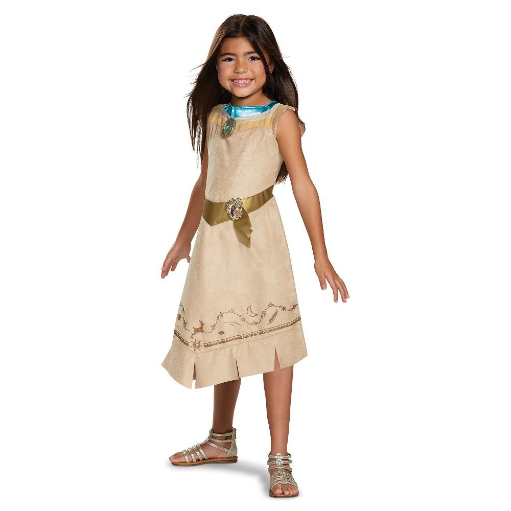 Girls Disney Princess Pocahontas Classic Costume - M (7-8), Multicolored