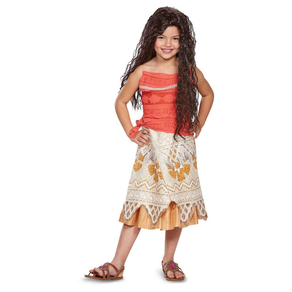 Girls Disney Princess Moana Classic Costume - M (7-8), Multicolored