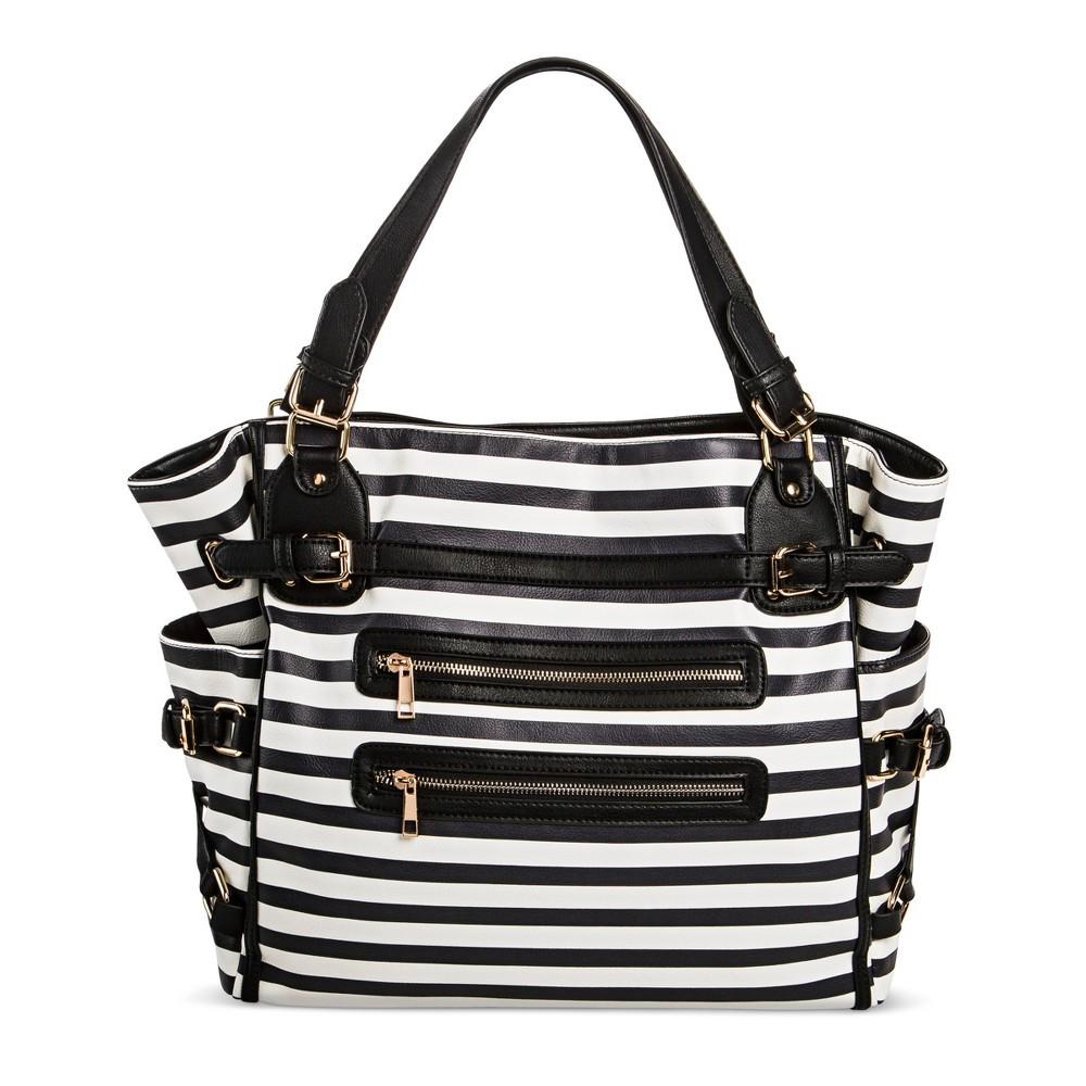 Under One Sky Womens Tote Handbag - Black/White