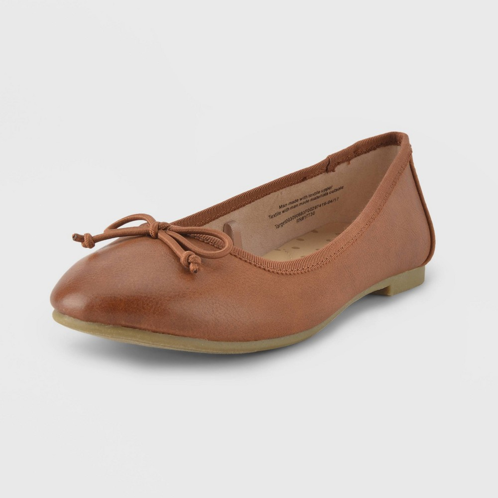 Girls Berta Ballet Flats Cat & Jack - Brown 13