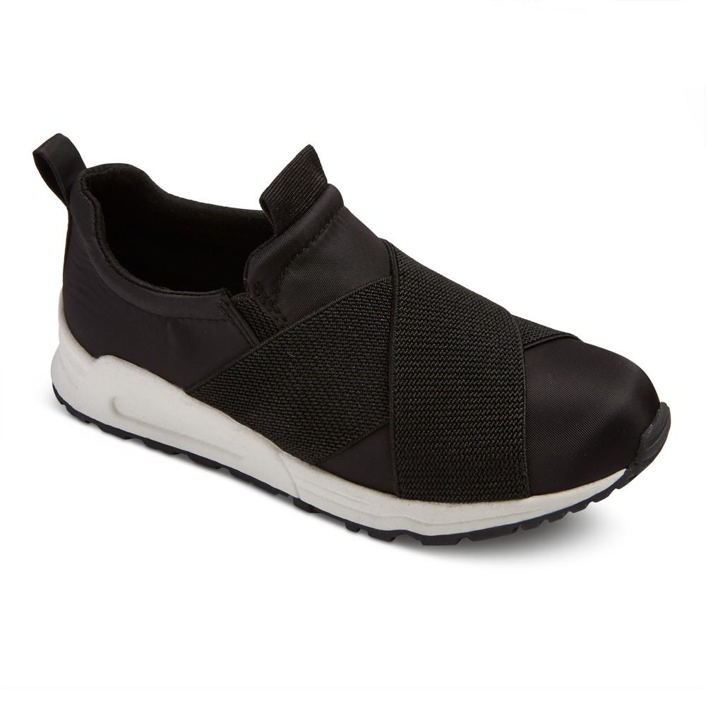 Girls Stevies #RUN4IT Elastic Jogger Sneakers - Black 4