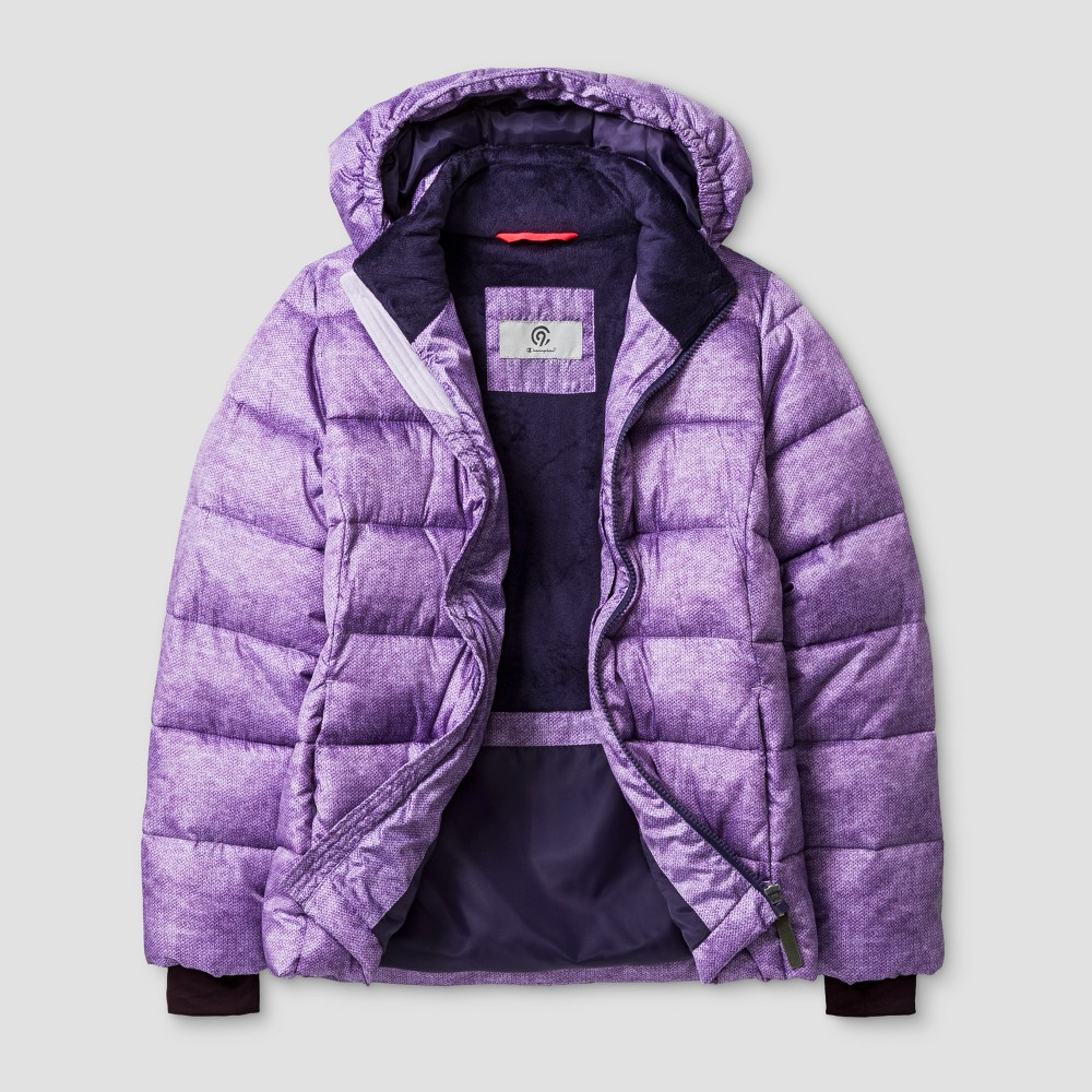 Girls Puffer Jacket - C9 Champion Purple L