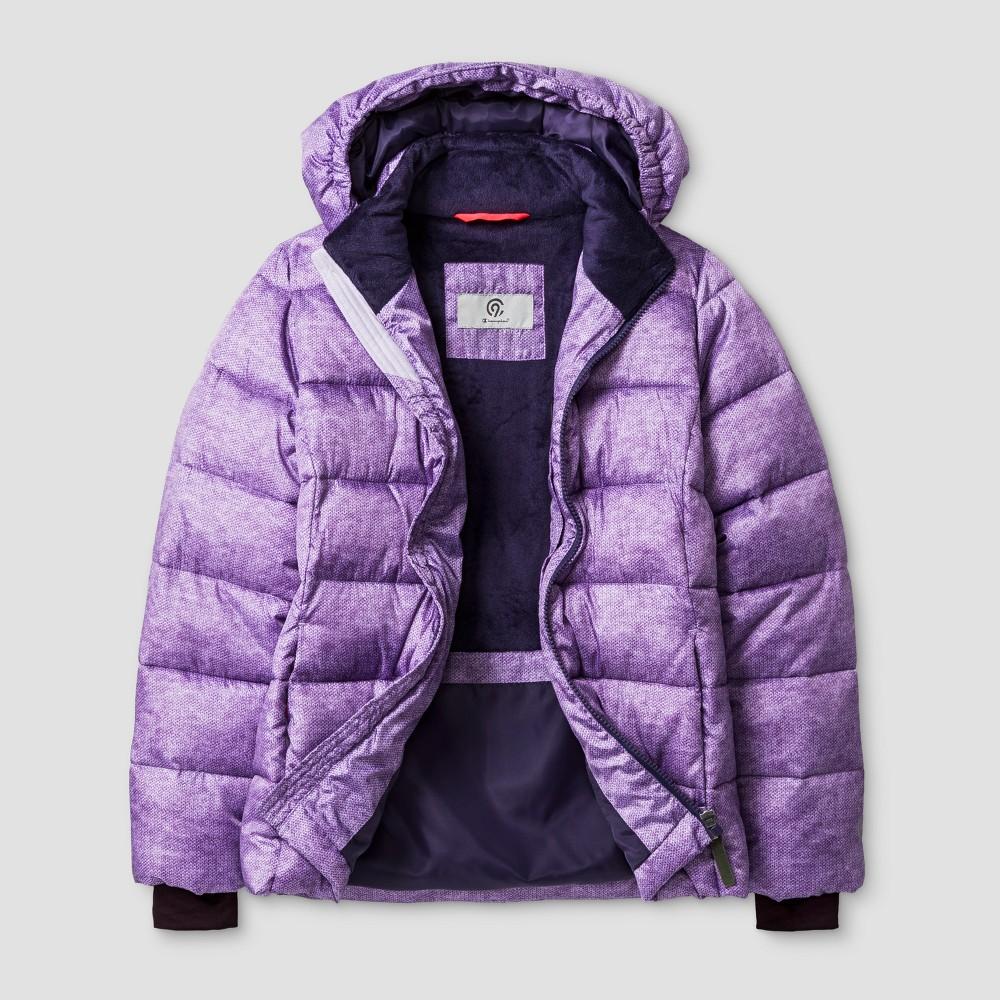 Girls Puffer Jacket - C9 Champion Purple XL