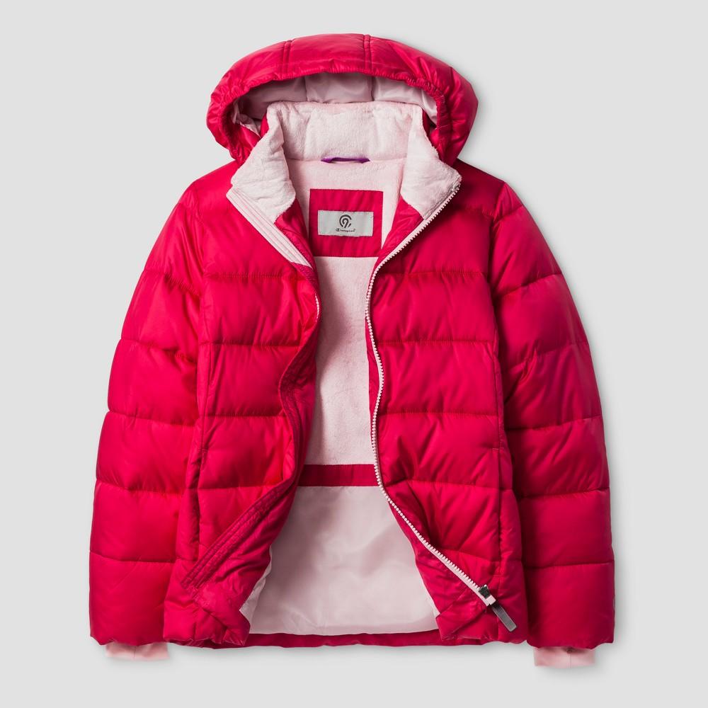 Girls Puffer Jacket - C9 Champion Pink XL