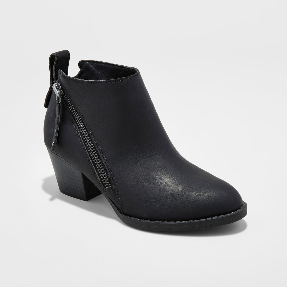 Girls Stevies #classyqt Heeled Booties - Black 5