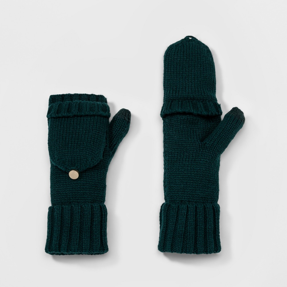 Womens Flip Top Glove - A New Day Dark Green
