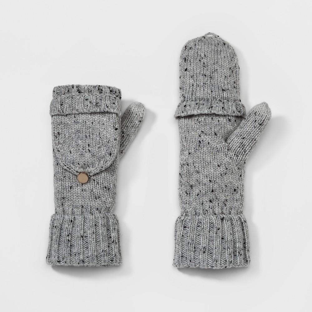 Womens Flip Top Glove - A New Day Light Gray