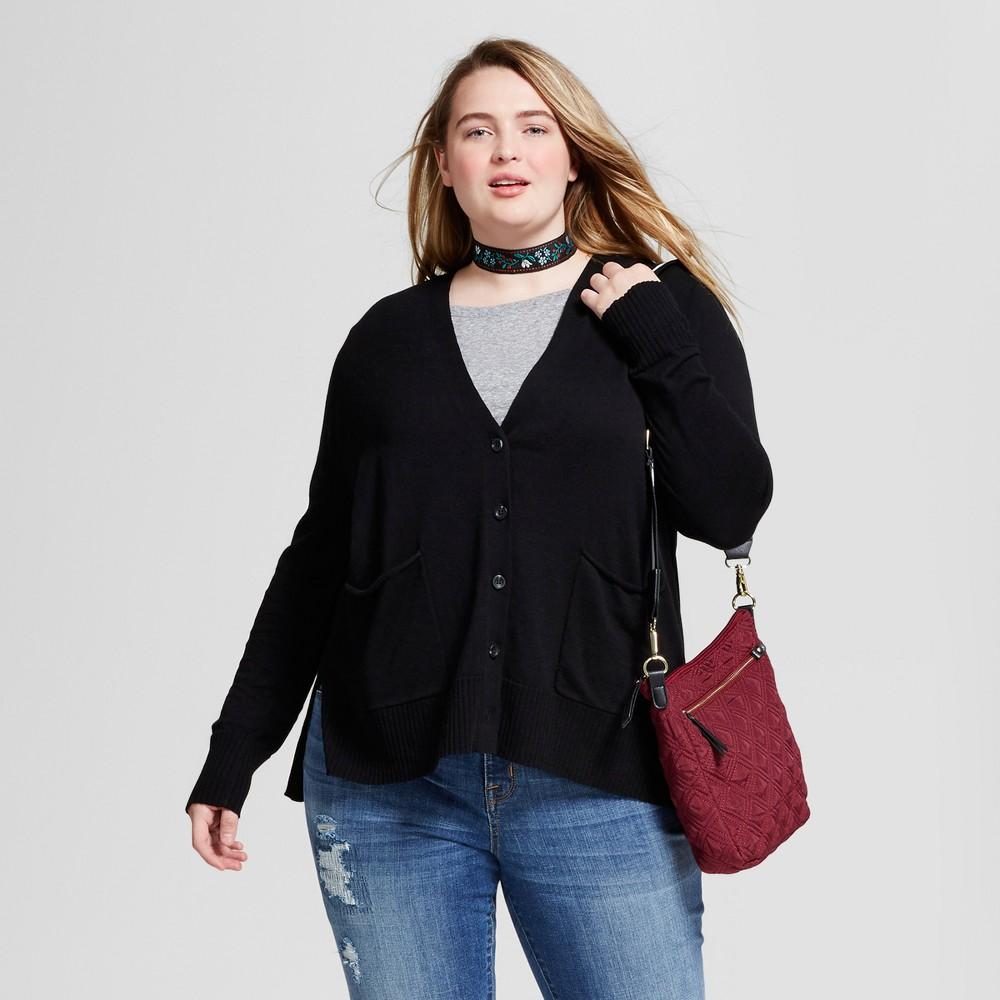 Womens Plus Size Boyfriend Cardigan - Mossimo Supply Co. Black X