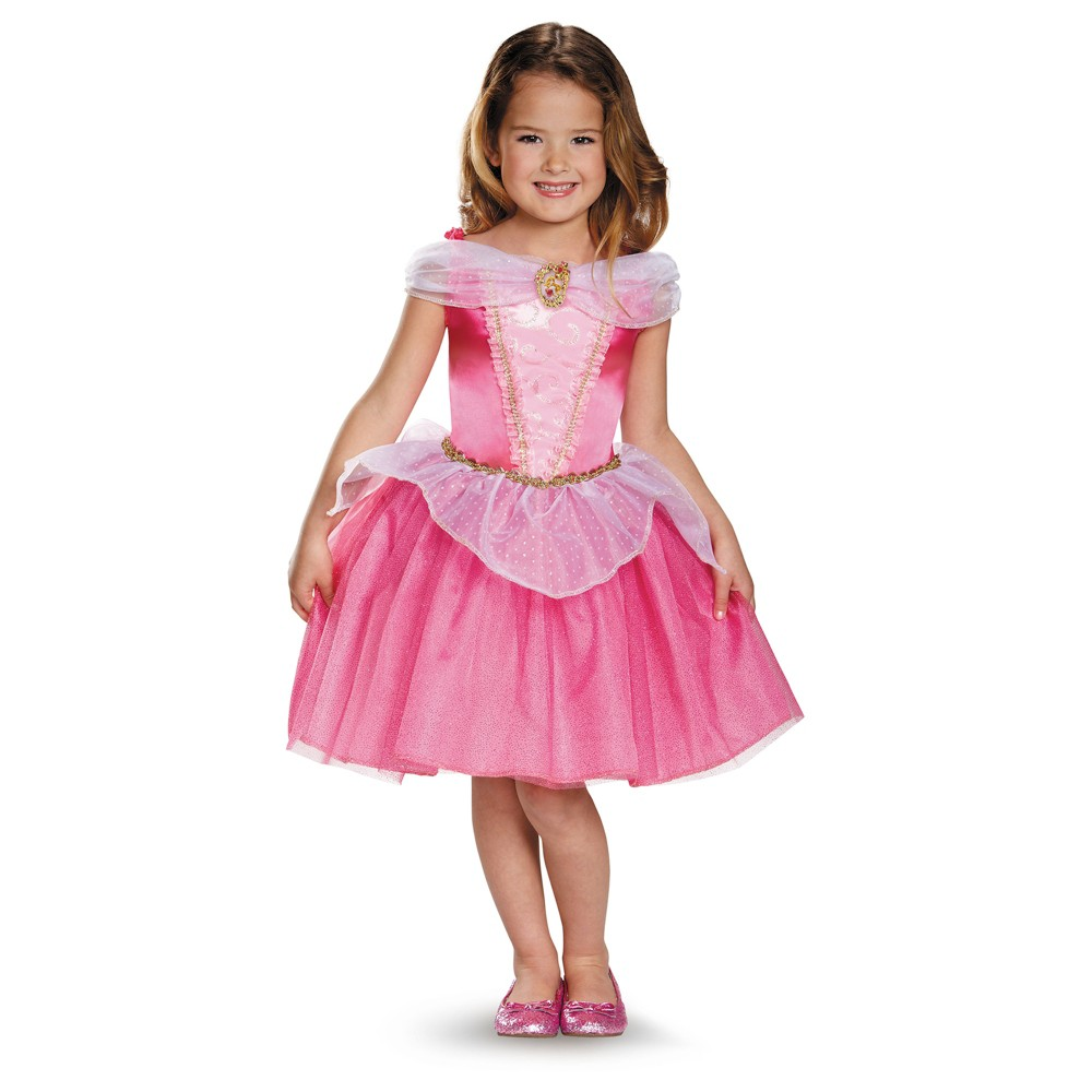 Girls Disney Princess Aurora Classic Costume - M (7-8), Multicolored