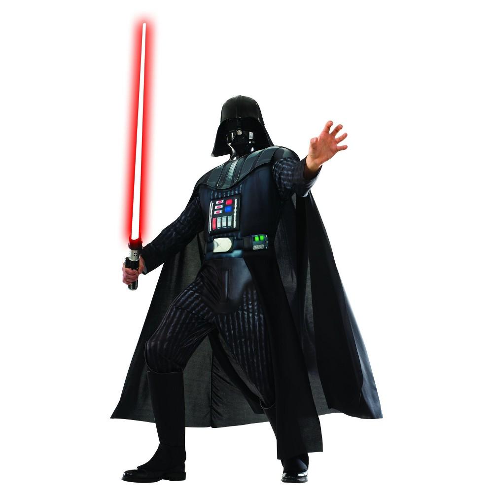 Mens Star Wars Deluxe Darth Vader Costume - S, Multicolored