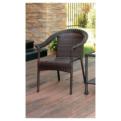 Erwin Modern Wicker Patio Chair   Espresso   Furniture Of America