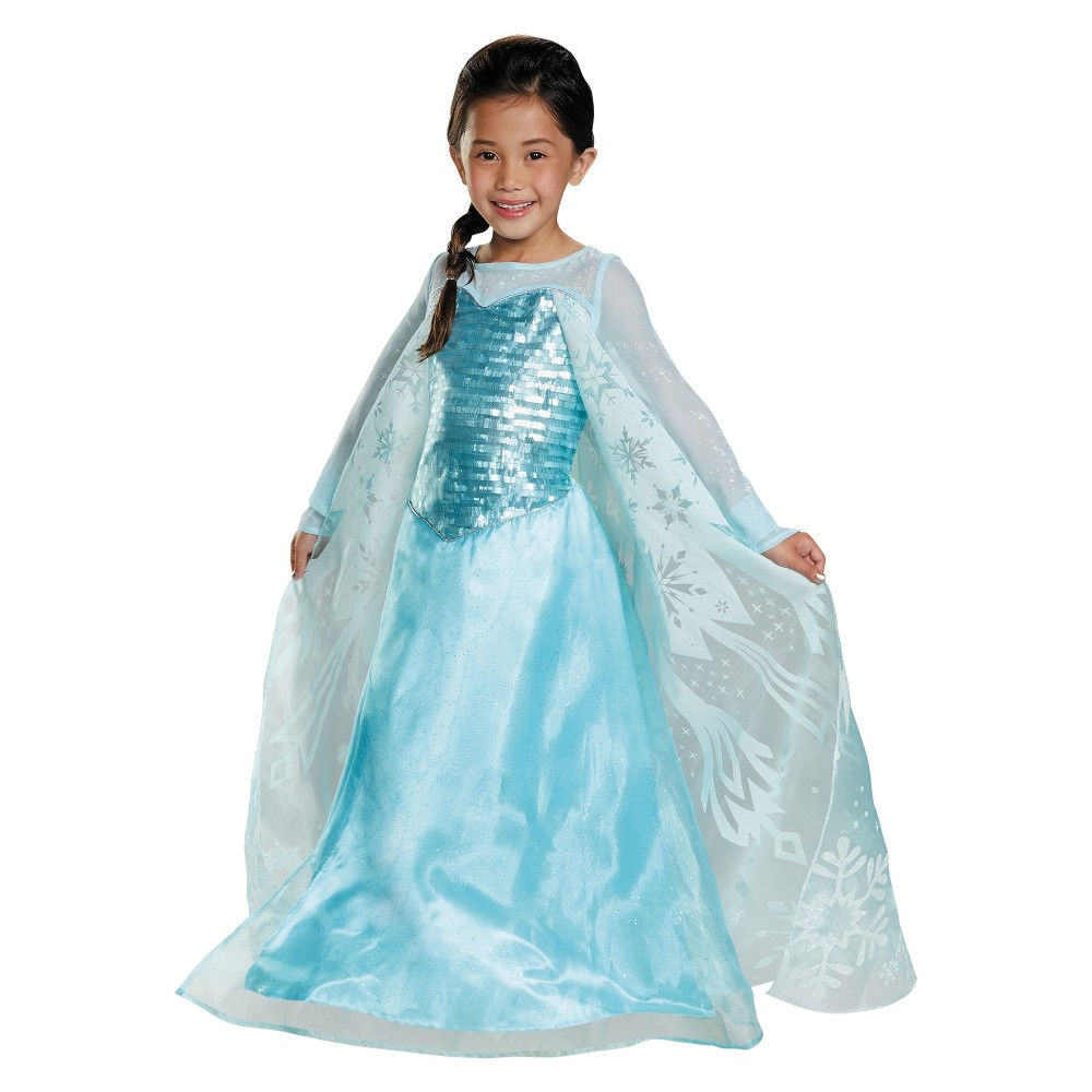 Girls Disney Frozen Elsa Deluxe Costume - 3T-4T, Multicolored