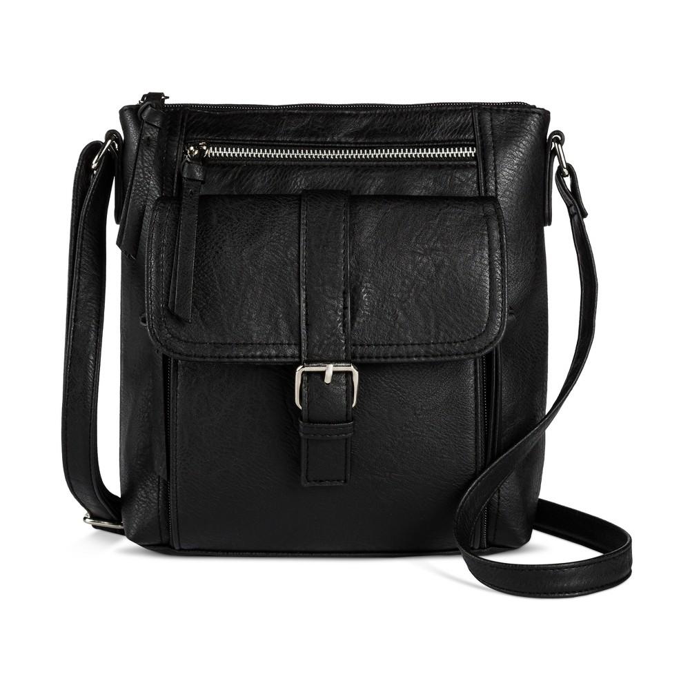 Womens Bueno Crossbody Organizer Handbag - Black