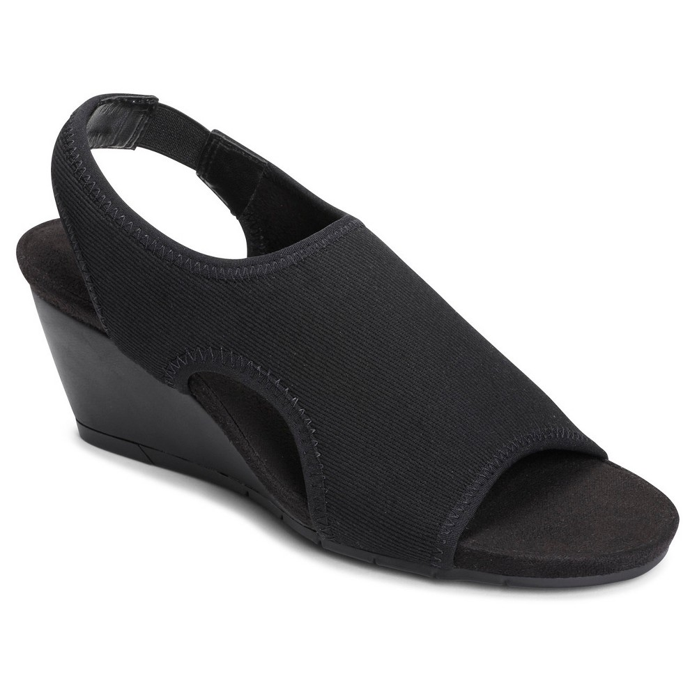 Womens A2 by Aerosoles Coffee Cake Wedge Quarter Strap Sandals - Black 6