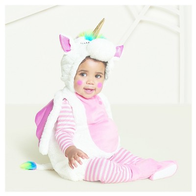 Baby Plush Rainbow Unicorn Vest Costume - 6-12 Months - Hyde and Eek! Boutique™