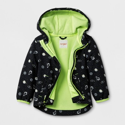 Toddler Boys' Softshell Jacket Planet Print - Cat & Jack™ Black 18M