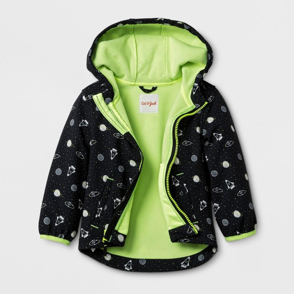 Toddler Boys Softshell Jacket Planet Print - Cat & Jack Black 18M