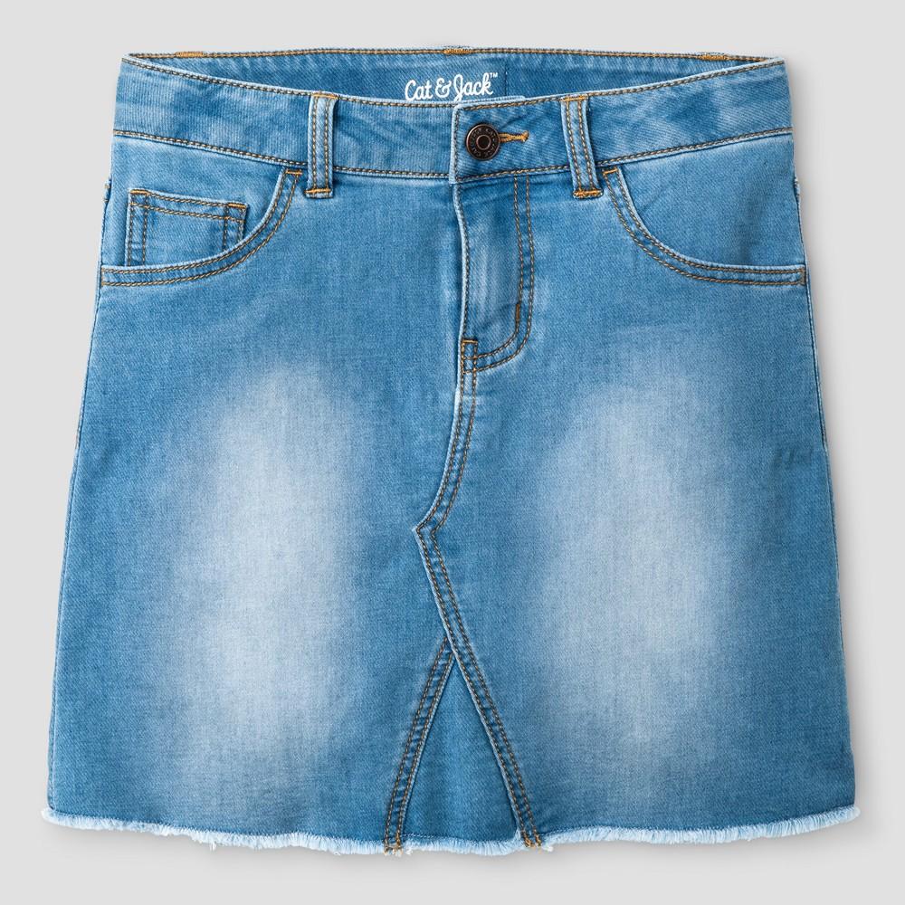 Girls Jean Skirt - Cat & Jack Medium Blue S