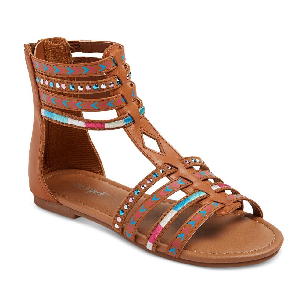 Girls' Bianca Embellished Gladiator Sandals Cat & Jack - 5, Multicolored