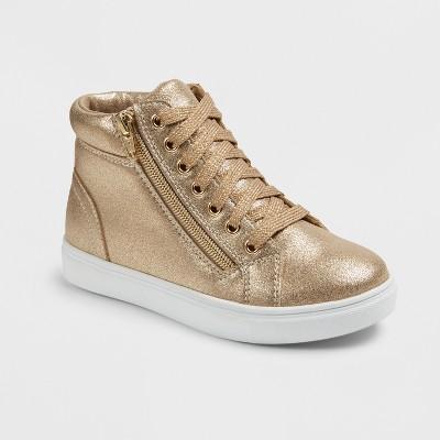 Girls' Stevies #ZIPPIT Core High Top Sneakers - Gold 4