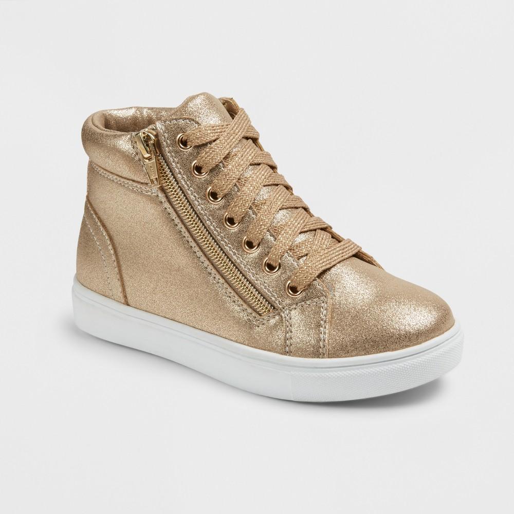 Girls Stevies #zippit Core High Top Sneakers - Gold 4
