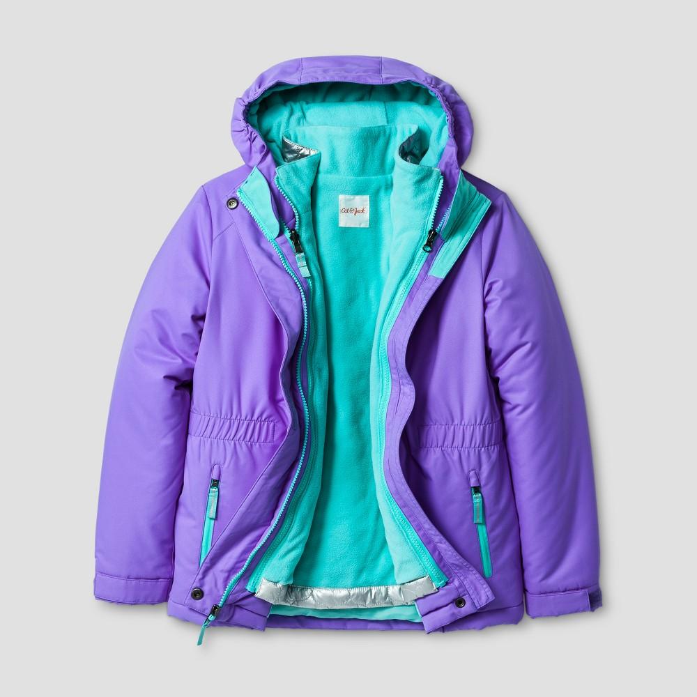 Girls 3-in-1 System Jacket - Cat & Jack Blue XS, Purple