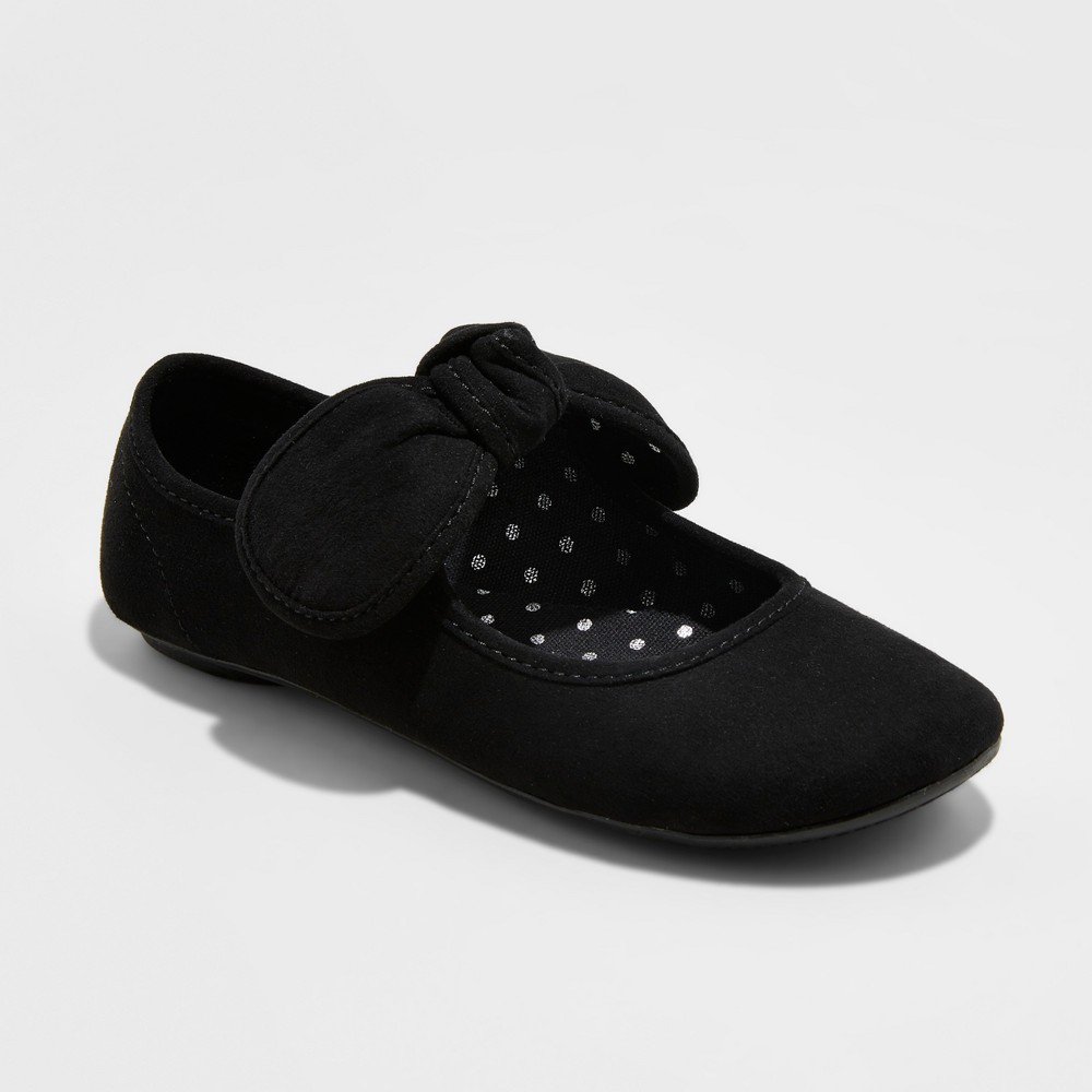 Girls Sondra Bow Ballet Flats Cat & Jack - Black 4