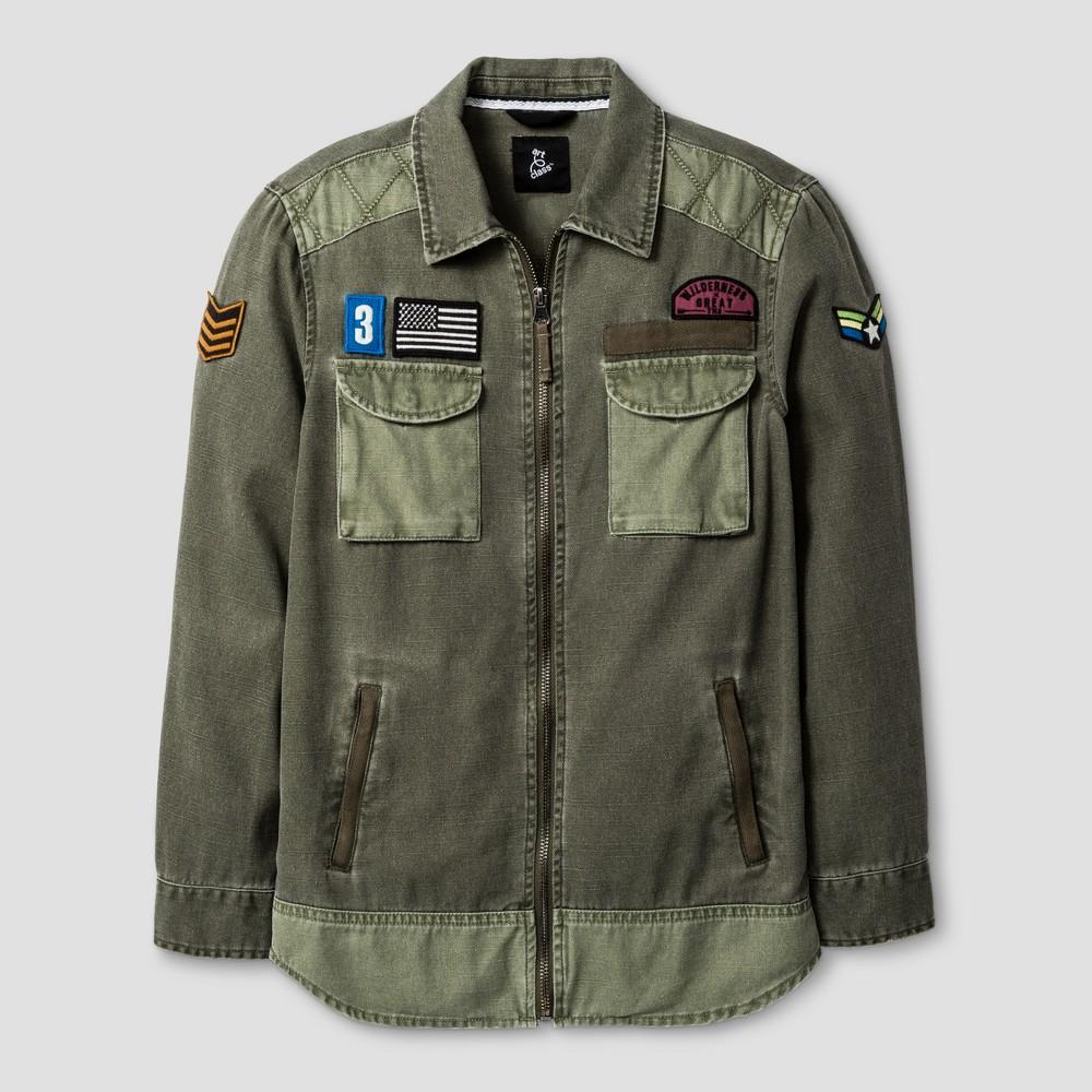 Boys Military Jacket T-Shirt - Art Class Green L