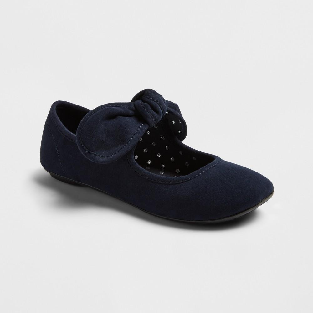 Girls Sondra Bow Ballet Flats Cat & Jack - Navy (Blue) 3