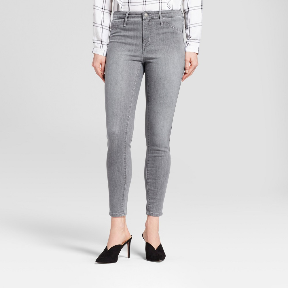 Womens Jeans High Rise Jeggings - Mossimo Gray 2 Regular