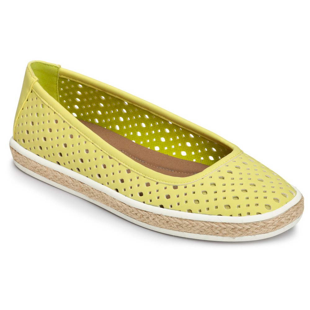 Womens A2 by Aerosoles Trust Fund Laser Cut Loafers - Green 5.5