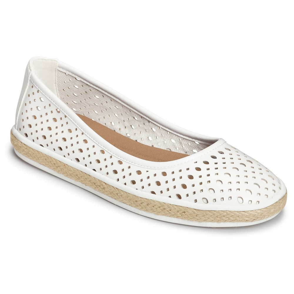 Womens A2 by Aerosoles Trust Fund Laser Cut Loafers - White 7.5