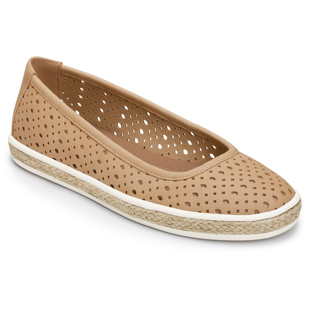 Womens A2 by Aerosoles Trust Fund Laser Cut Loafers - Tan 6.5