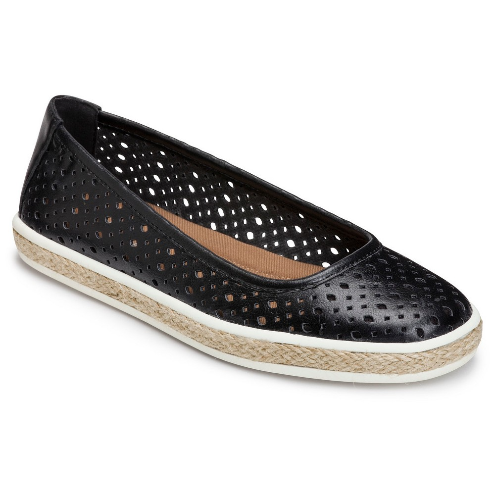 Womens A2 by Aerosoles Trust Fund Laser Cut Loafers - Black 10