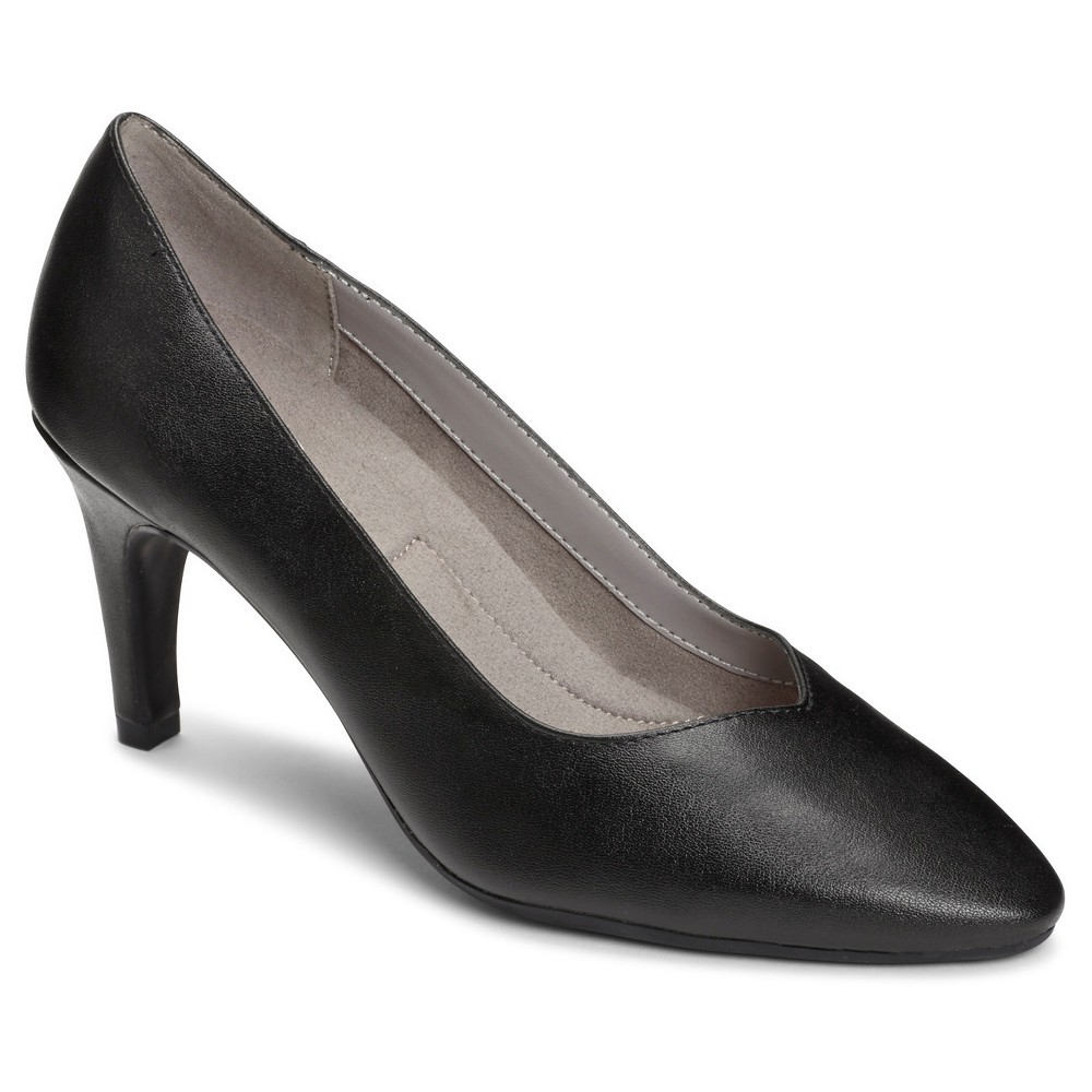 Womens A2 by Aerosoles Expert Wide Width Pumps - Black 7W, Size: 7 Wide
