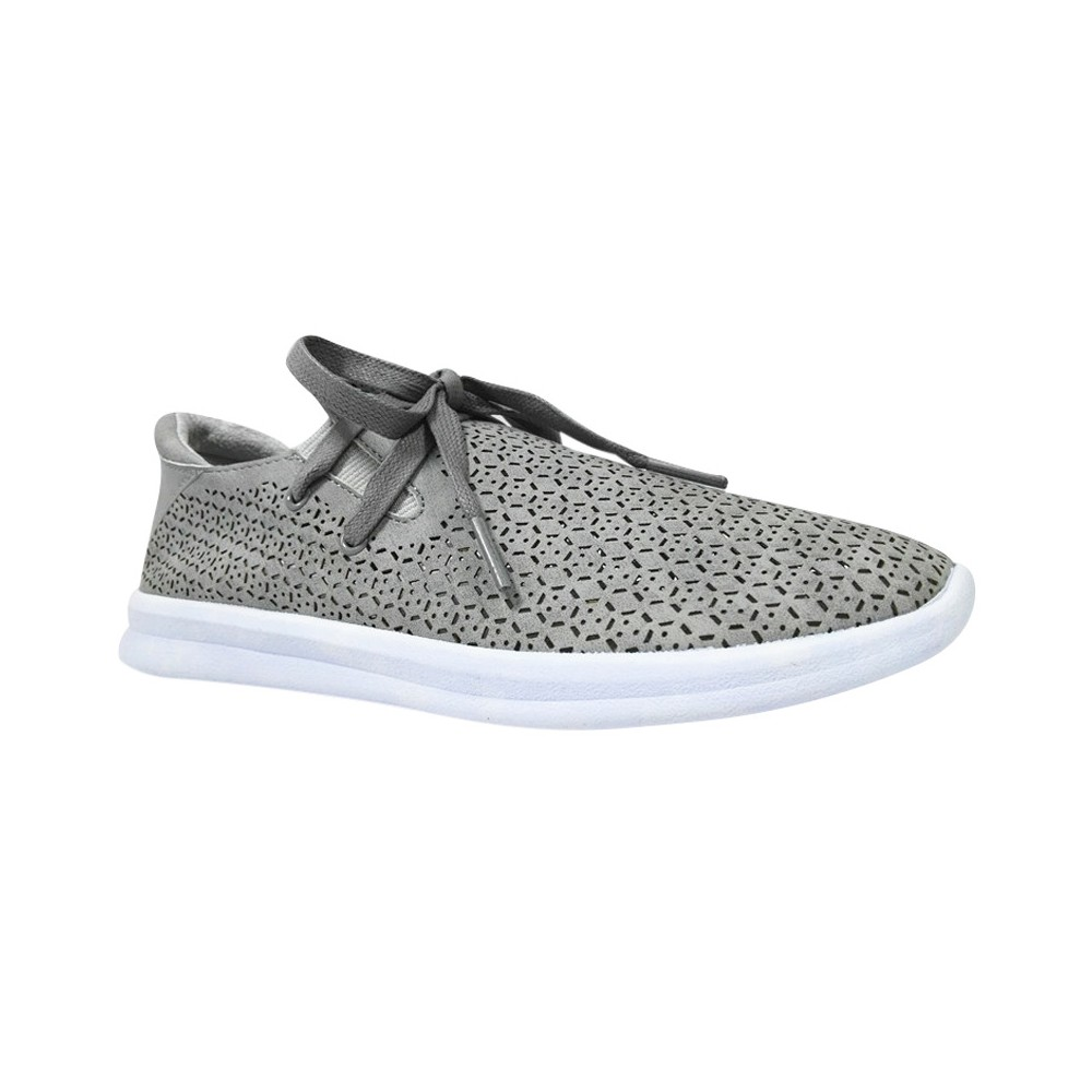 Womens Raelee Laser Cut Lace-Up Sneakers - Mossimo Supply Co. Gray 8