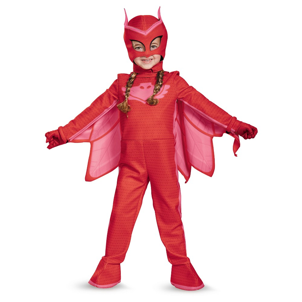 Toddler PJ Masks Owlette Deluxe Costume - 2T, Toddler Girls, Red