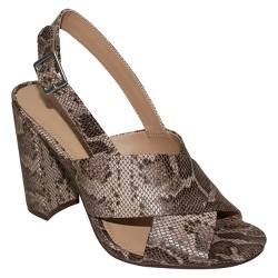 Women's Harper Snake Print Crossband Sandals - Who What Wear™