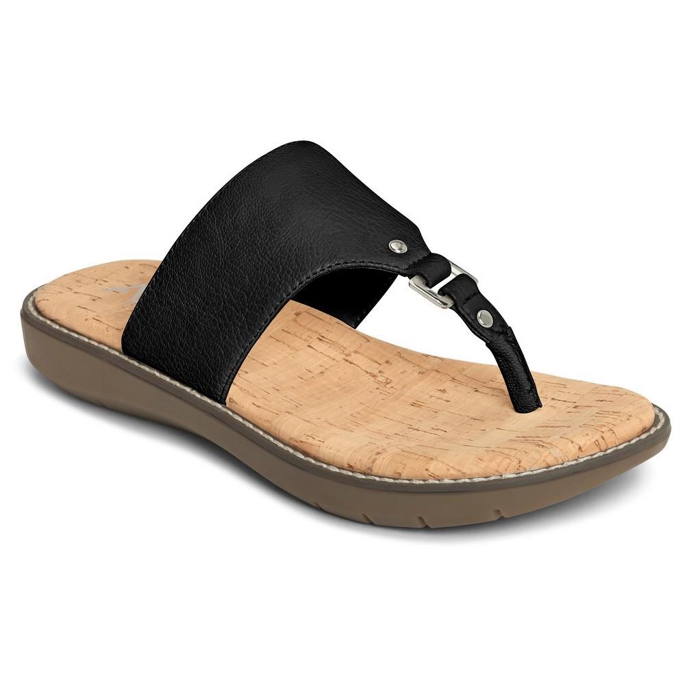Womens A2 by Aerosoles Cool Cat Wide Width Slide Sandals - Black 6W, Size: 6 Wide