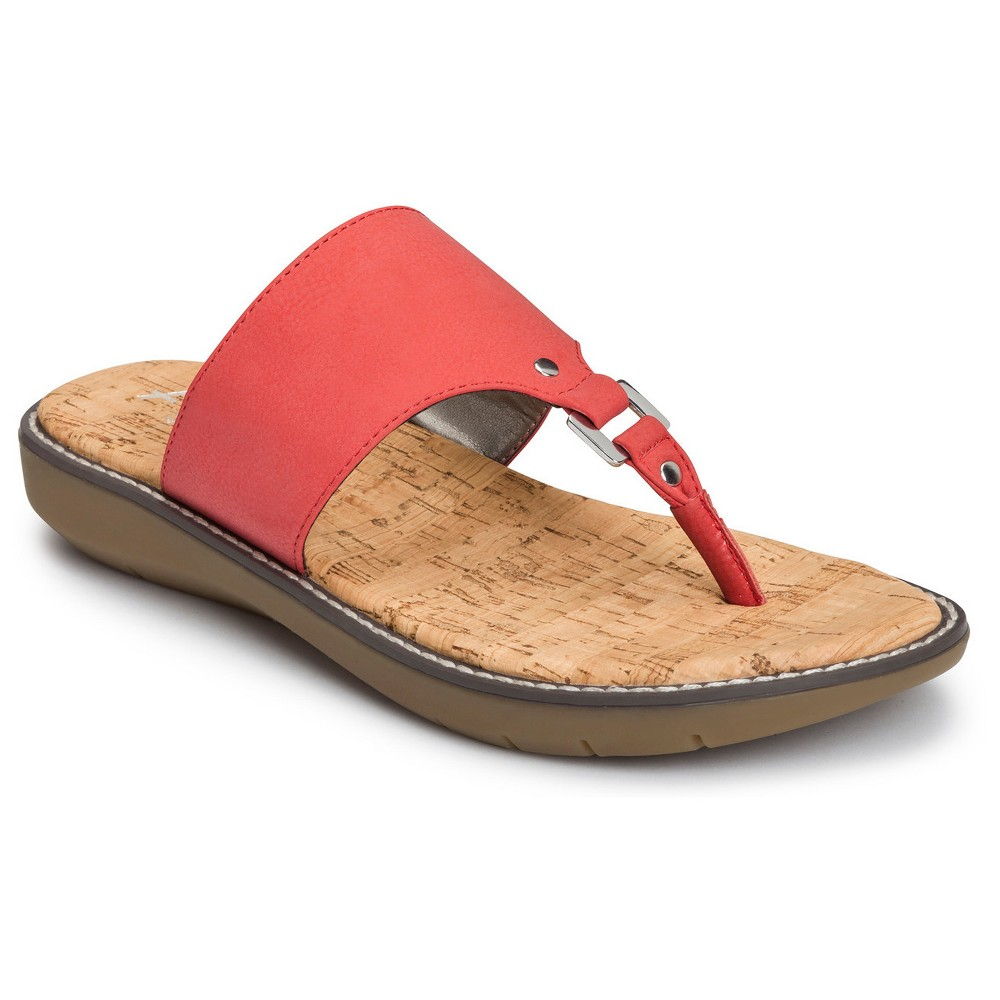 Womens A2 by Aerosoles Cool Cat Wide Width Slide Sandals - Coral (Pink) 6.5W, Size: 6.5 Wide
