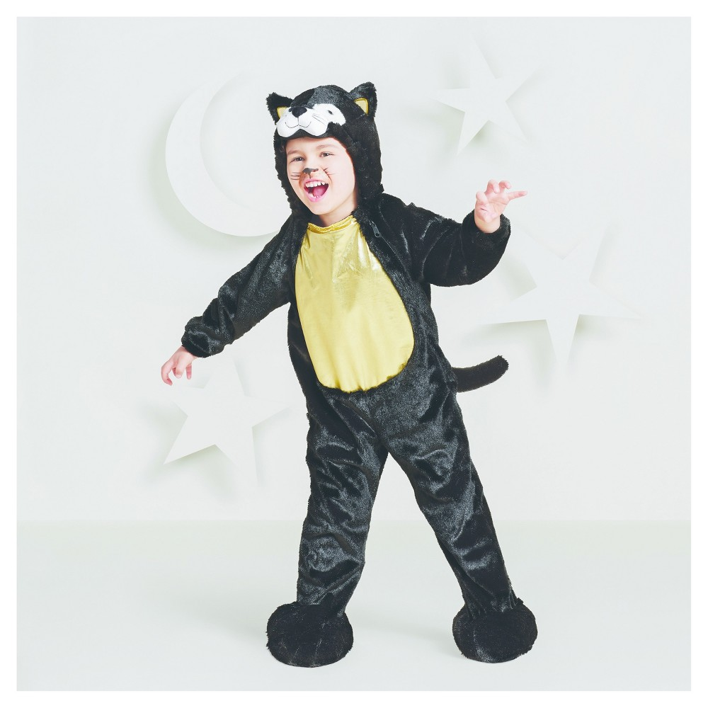Toddler Plush Black Cat Costume - 2T-3T - Hyde and Eek! Boutique, Toddler Girls, Black White