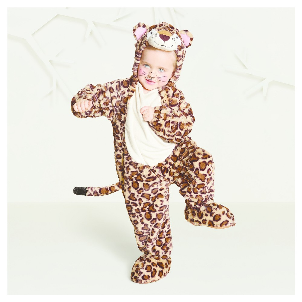 Baby Plush Leopard Costume - 18-24 Months - Hyde and Eek! Boutique, Infant Unisex, Black Brown Yellow