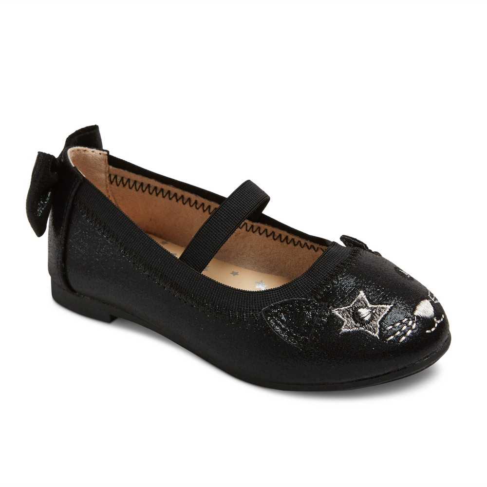 Toddler Girls Carol Ballet Flats 6 - Cat & Jack - Black