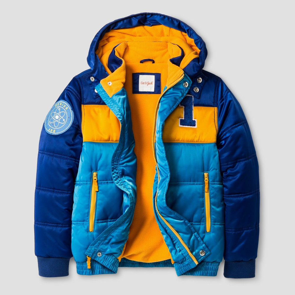 Boys Puffer Jacket - Cat & Jack Blue XS