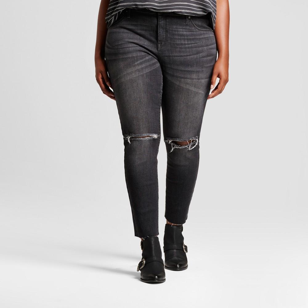 Womens Plus Size Jeggings - Ava & Viv Washed Black 26W
