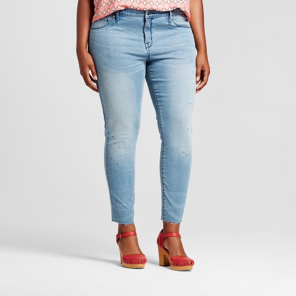 Womens Plus Size Jeggings Medium Wash - Ava & Viv Medium Wash 14W, Blue