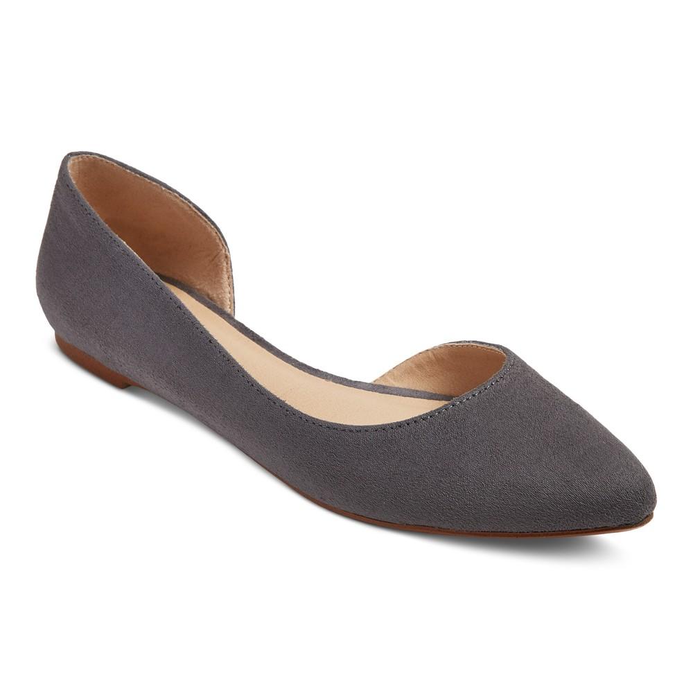 Womens dOrsay Mohana Ballet Flats - Mossimo Supply Co. Gray 7.5
