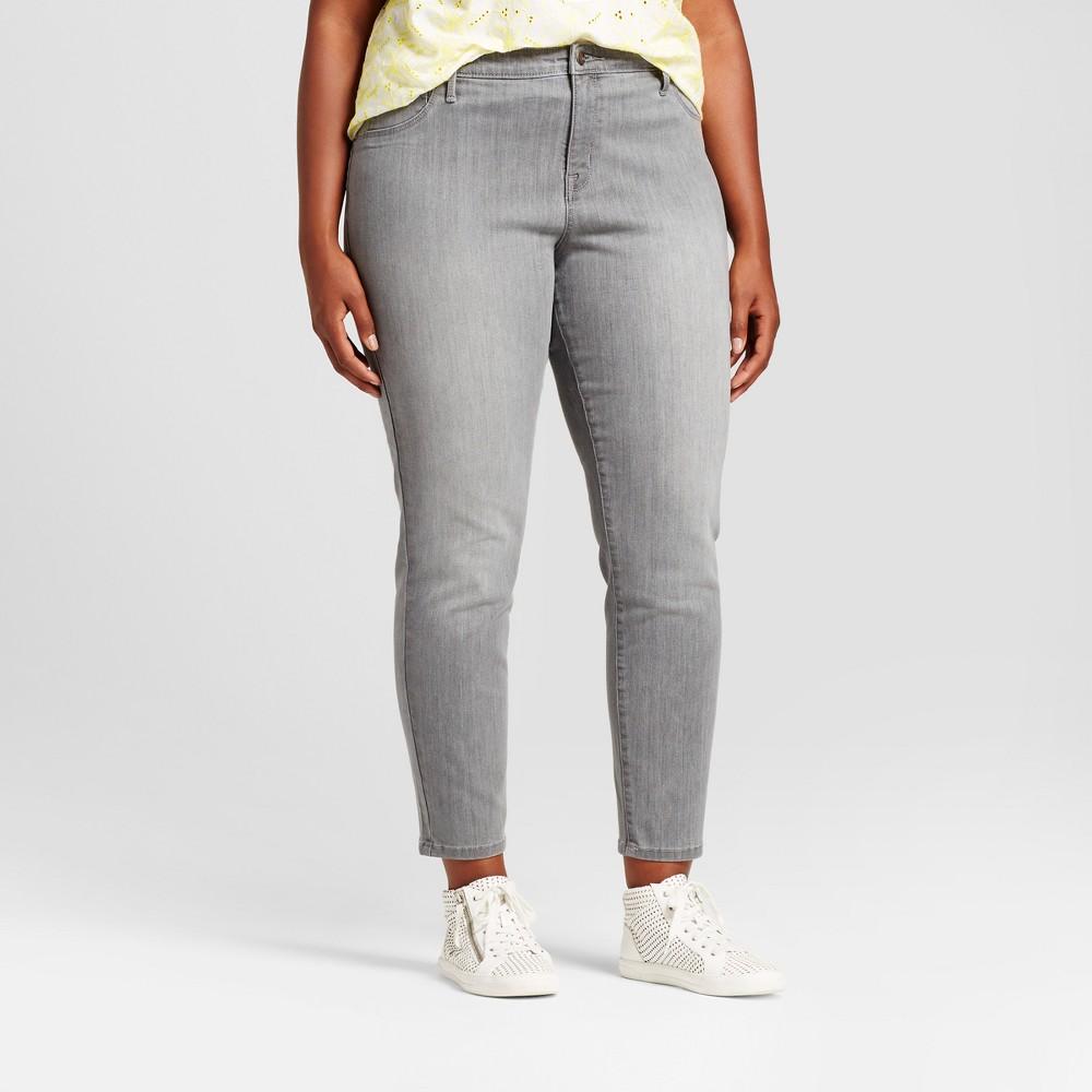 Womens Plus Size Jeggings - Ava & Viv Gray Wash 24W